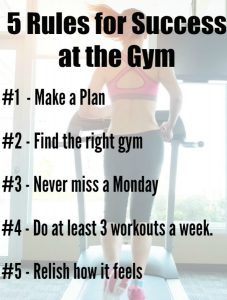 5 rules for success at the gym  sober julie