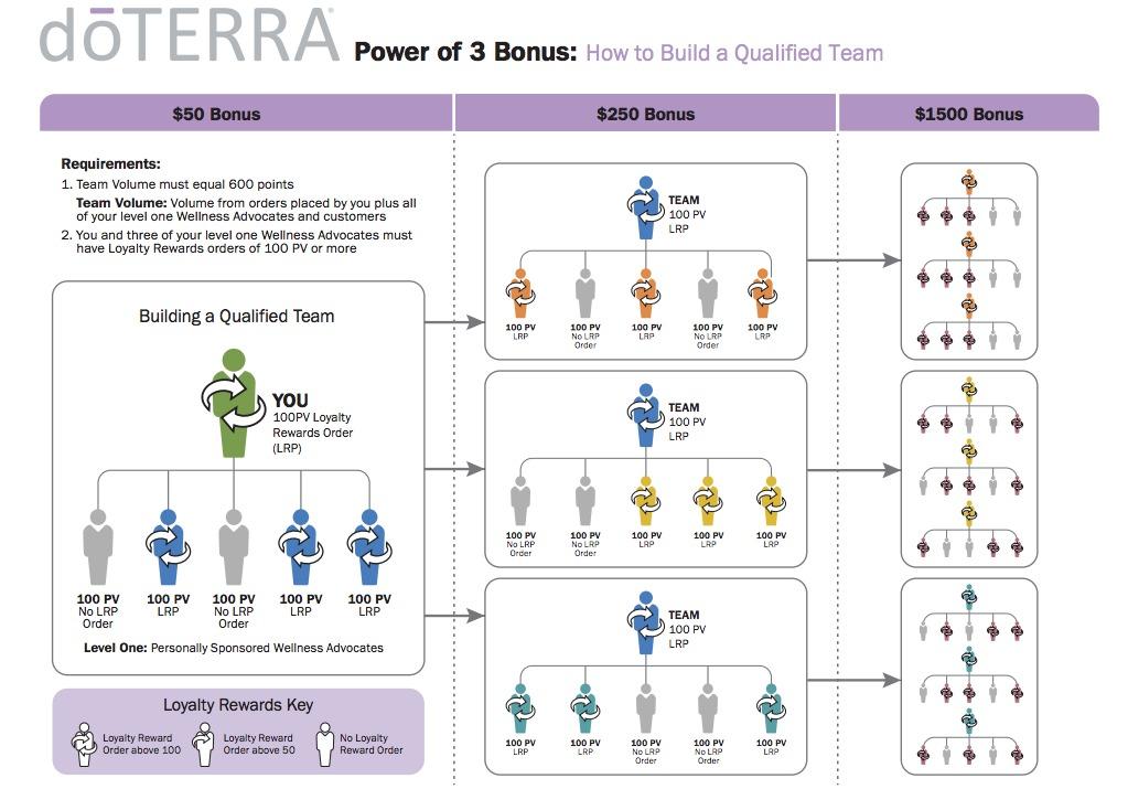 doTERRA Compensation Plan Outline - Sober Julie